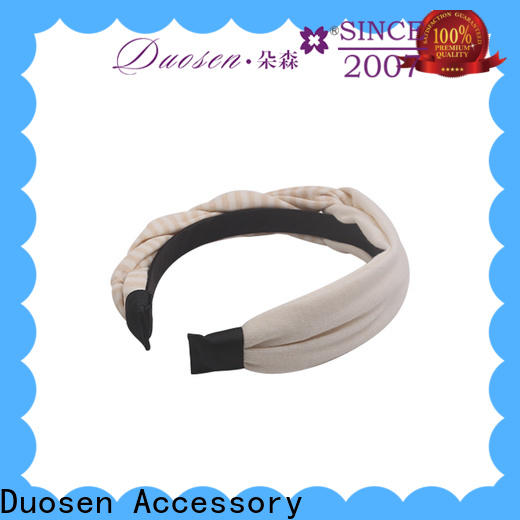 Duosen Accessory three fabric bow headband Supply for dancer