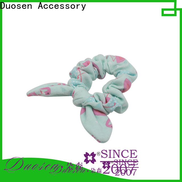 Duosen Accessory ecofriendly fabric scrunchies Supply for girls