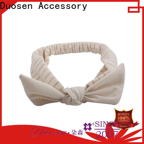 Duosen Accessory Top wire fabric headband manufacturers for party