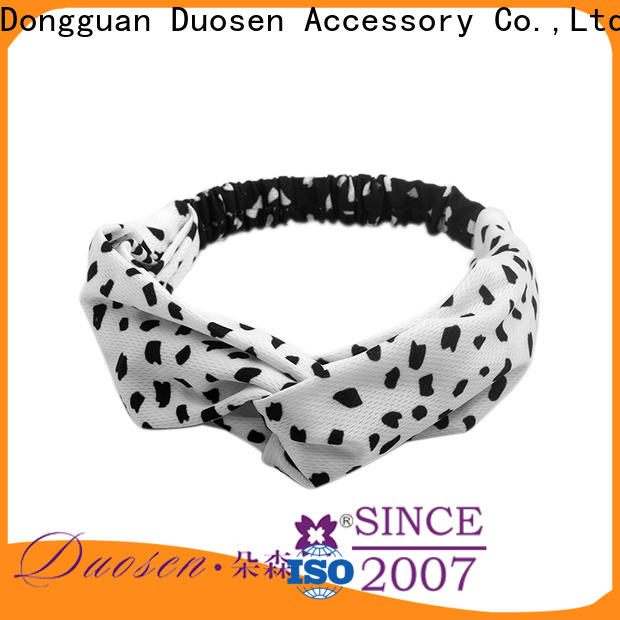 Duosen Accessory New wire fabric headband manufacturers for daily Life