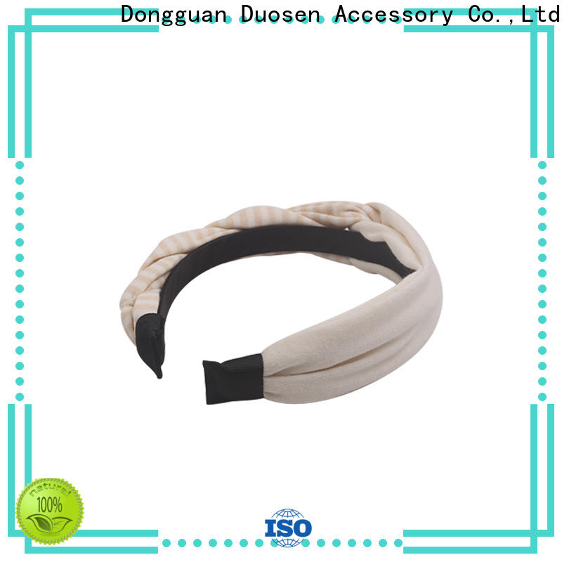 Duosen Accessory New wire fabric headband factory for daily Life
