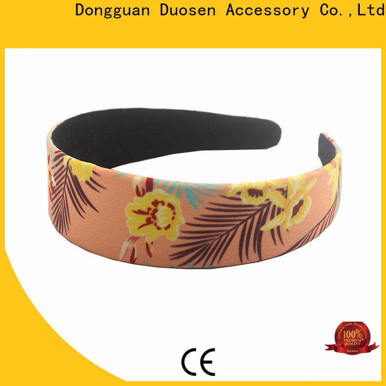 Duosen Accessory Wholesale fabric elastic headbands Suppliers for sports