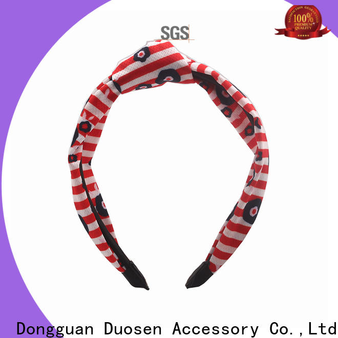 Duosen Accessory covered cheap fabric headbands factory for party