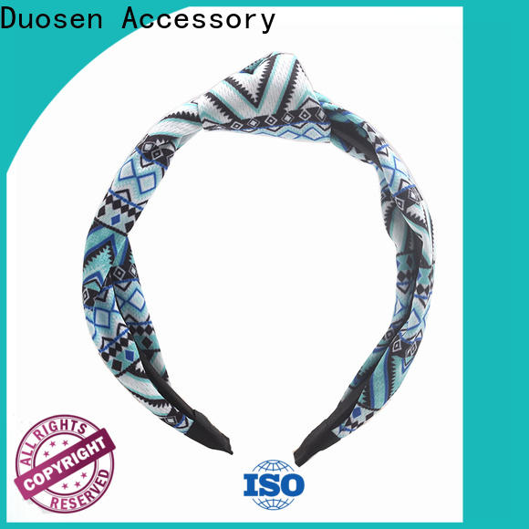 Duosen Accessory New fabric hair bands Suppliers for prom