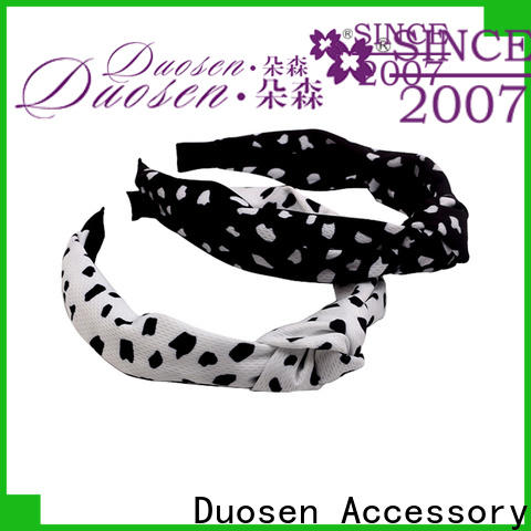 Duosen Accessory hair twisted fabric headband factory for sports