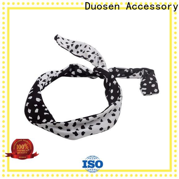 Duosen Accessory hawaii organic fabric bow headband Suppliers for sports