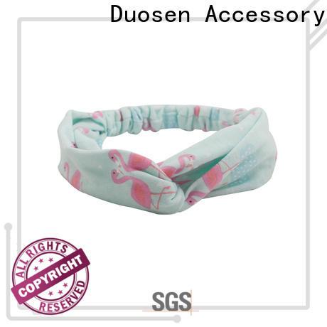 Latest organic fabric bow headband blue company for running