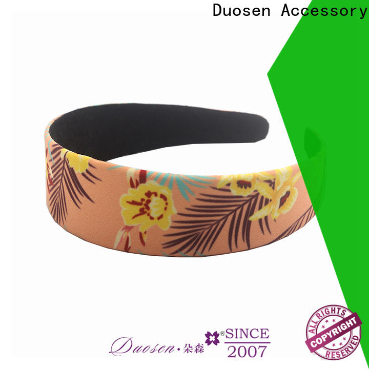 Duosen Accessory knots wire fabric headband Suppliers for dancer