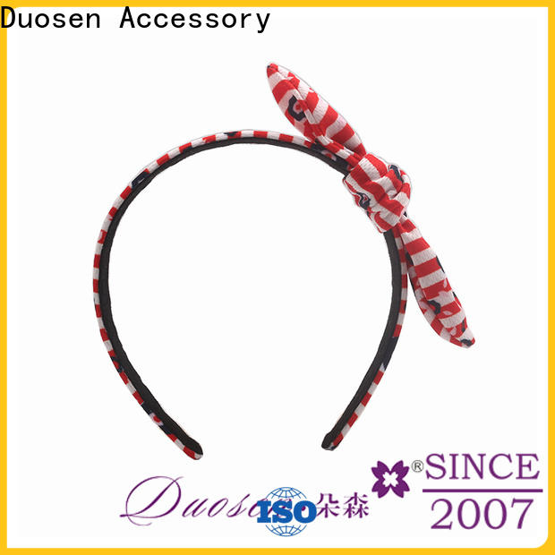Duosen Accessory cow fabric knot headband manufacturers for sports