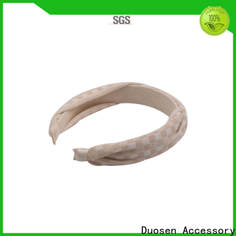 Duosen Accessory Best organic fabric hairband Suppliers for sports