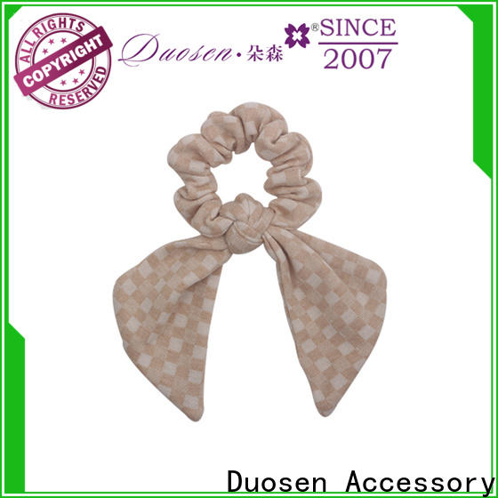 Duosen Accessory pattern fabric hair tie factory for girls