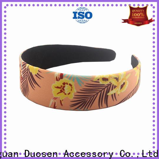 Top fabric bow headband print company for prom