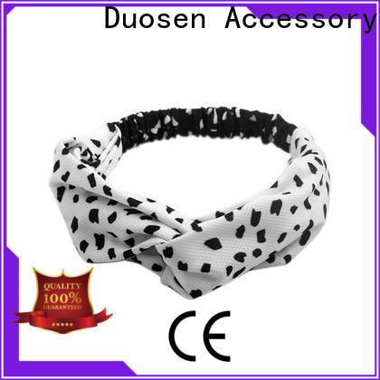 Duosen Accessory scrunch organic fabric headband company for sports