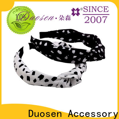 Duosen Accessory environmentally organic fabric headband manufacturers for running