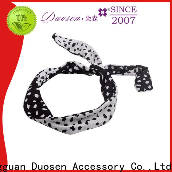 Duosen Accessory stripe cloth headbands manufacturers for sports