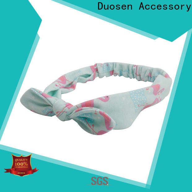 Duosen Accessory High-quality recycled fabric hairband company for dancer