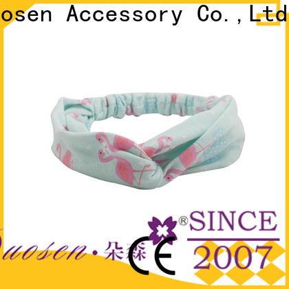 Duosen Accessory environmentally cotton turban headband factory for party