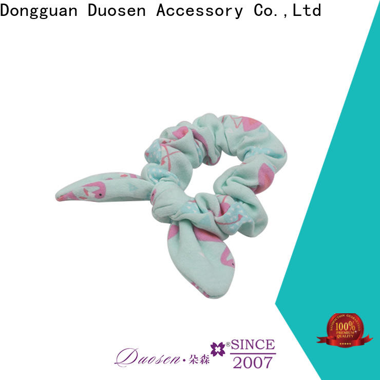 Duosen Accessory Top bow hair scrunchie Suppliers for girls