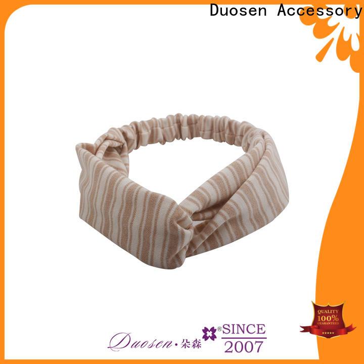 Duosen Accessory flamingo organic fabric hairband manufacturers for dancer