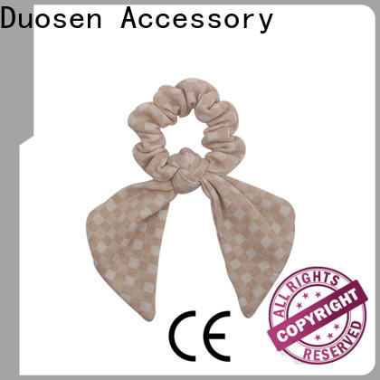 Duosen Accessory cute scrunchie hair ties company for girls