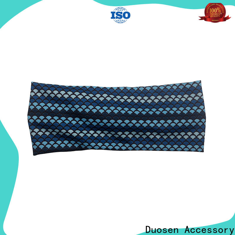 Duosen Accessory Custom twisted fabric headband factory for dancer