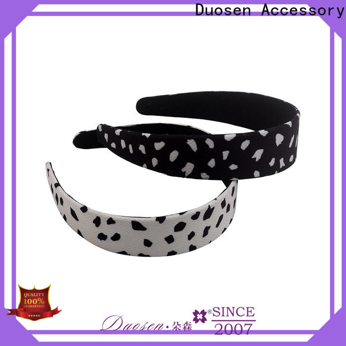 Duosen Accessory wave organic cotton headband for business for running