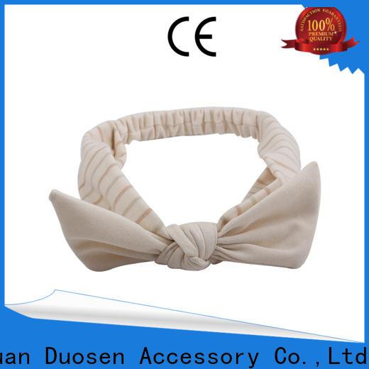Duosen Accessory Wholesale organic fabric bow headband Supply for prom