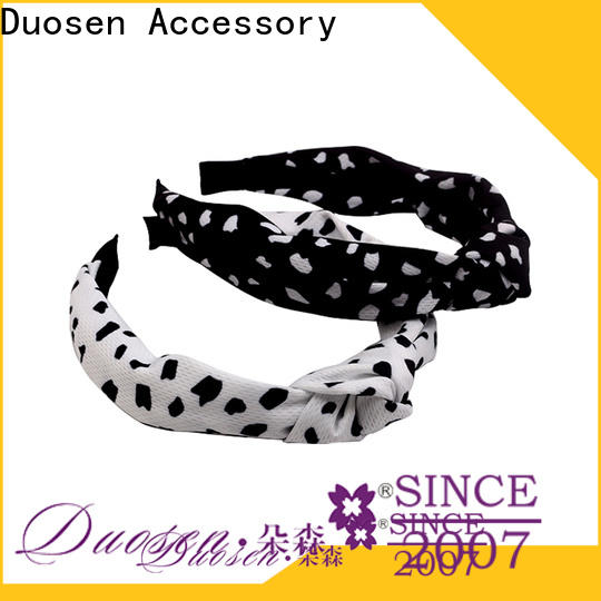 Duosen Accessory Custom womens fabric headbands Suppliers for dancer