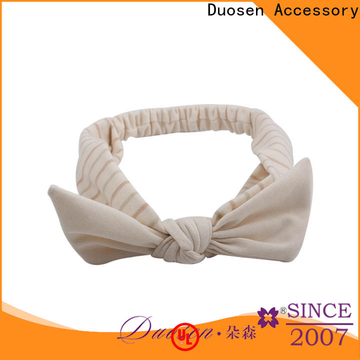 Custom fabric hair bands knots Supply for sports