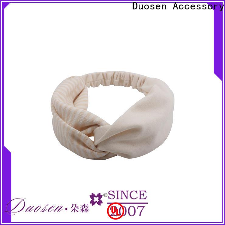 Duosen Accessory Latest fabric tie headbands Supply for daily Life