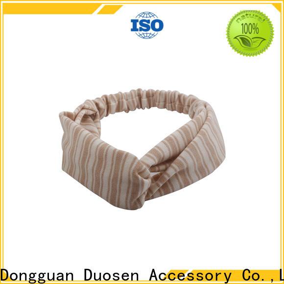 Custom organic fabric bow headband blue Supply for running