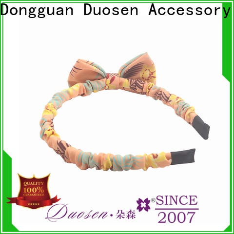 Duosen Accessory Top organic cotton headband Supply for dancer