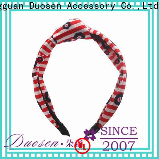 Custom cheap fabric headbands striped Suppliers for dancer
