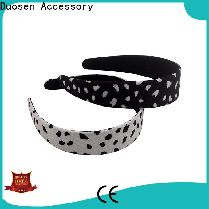 Duosen Accessory Custom fabric hair bands manufacturers for sports