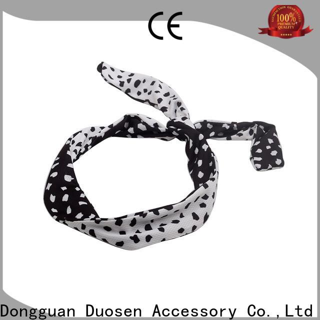 Duosen Accessory Custom organic fabric bow headband factory for prom