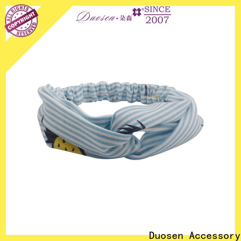 Duosen Accessory Top organic cotton headband factory for daily Life