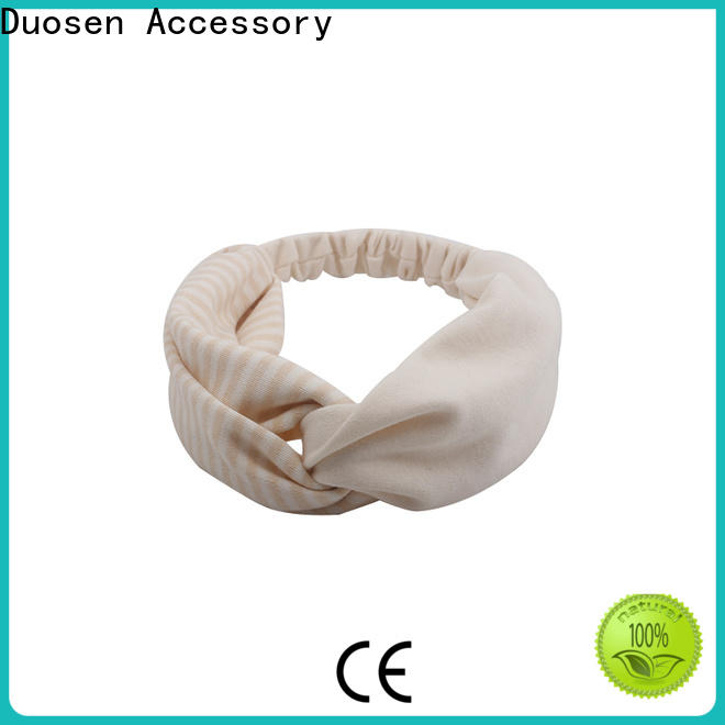 New fabric tie headbands scrunch Suppliers for prom
