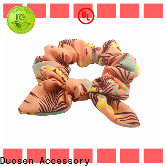 Duosen Accessory tie scrunchie hair ties for business for girls