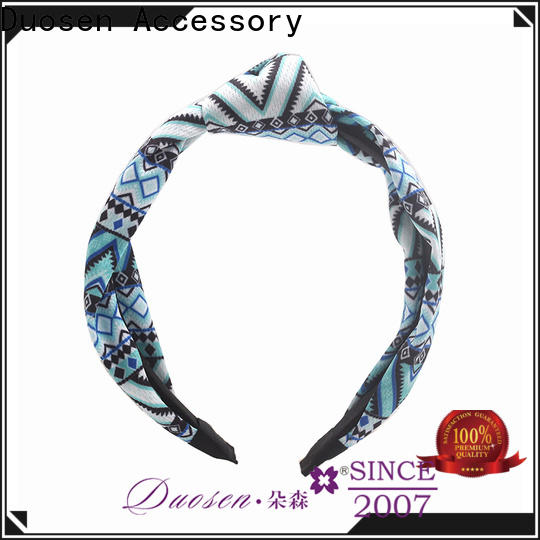 Top twisted fabric headband geometric Suppliers for prom