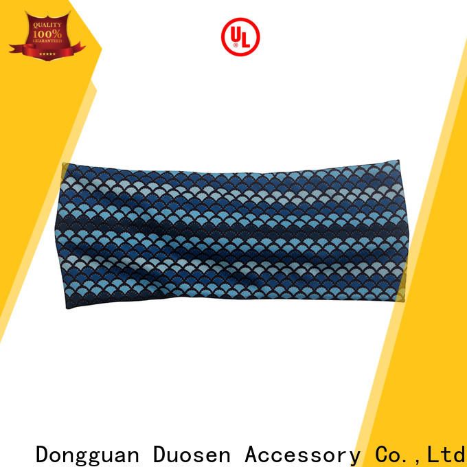 Duosen Accessory Latest fabric tie headbands company for sports