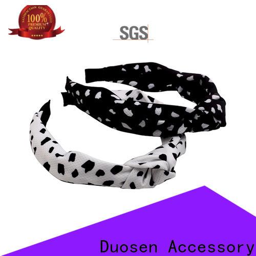 Duosen Accessory Latest organic fabric bow headband factory for party