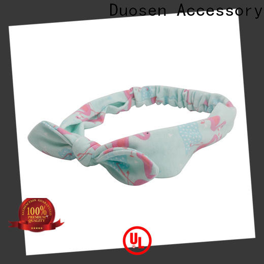 Duosen Accessory Custom twisted fabric headband company for sports
