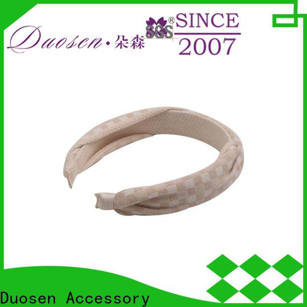 Duosen Accessory Custom cotton turban headband Supply for sports