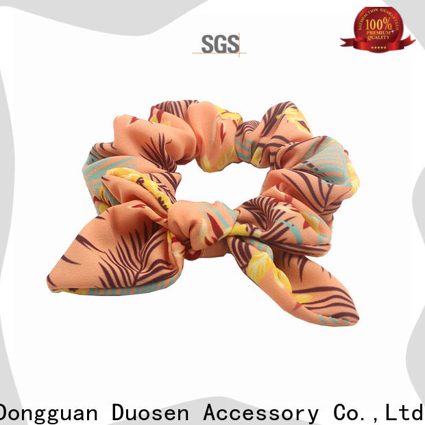 Duosen Accessory ecofriendly scrunchie hair ties for business for daily life