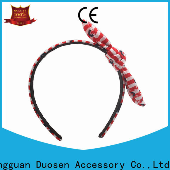 Duosen Accessory wave fabric tie headbands manufacturers for daily Life