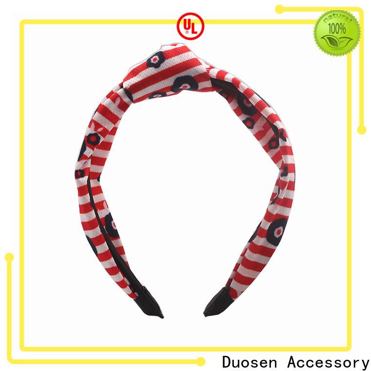 Duosen Accessory elastic organic fabric headband company for daily Life
