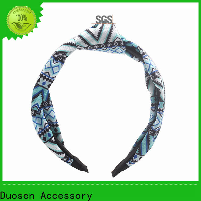 Custom organic fabric hairband color manufacturers for running