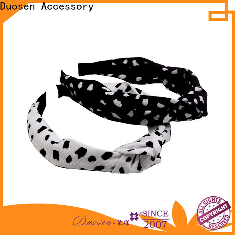 Duosen Accessory special fabric hair bands manufacturers for sports
