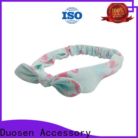 Duosen Accessory elastic fabric hair bands factory for sports