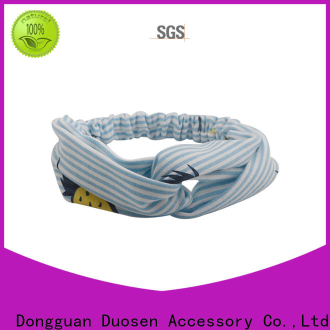 New organic fabric hairband environmentally Supply for prom
